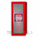 Conjunto bie AHYNOA + armario extintor rojo + puerta inoxidable con referencia AHYNOA2HMIX2115 de la marca GRUPO DE INCENDIOS.