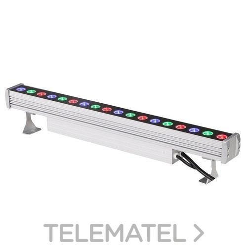 Proyector lineal 40W 15x35º 1642lm F.P>0 9 IP65 1100x53x105mm 24V RGB+W con referencia PLT40RGBW de la marca GTLED.