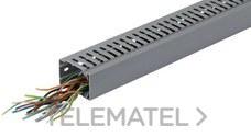 HAGER BA7A40060 Canal de cuadro+tapa PVC BA7A 40x60 gris