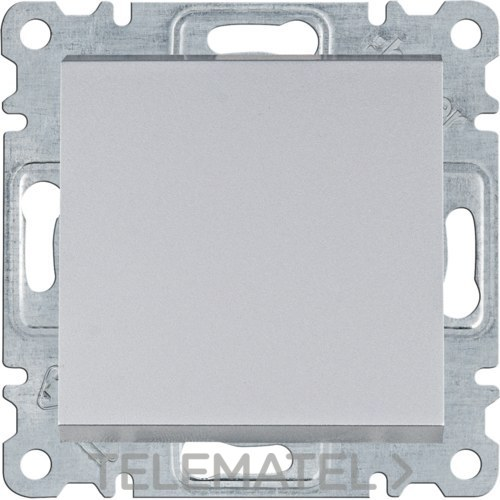 Conmutador Lumina intense plata con referencia WL0022 de la marca HAGER.