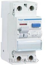 HAGER CDC728M Interruptor diferencial tipo-AC 2P 25A 30mA posición del neutro derecha