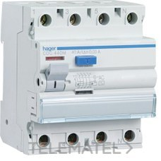 HAGER CDC425M Diferencial 4P 25A 30mA tipo-AC