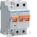 Interruptor automático general+limitador sobretensión permanente 2P 40A con referencia MZ240V de la marca HAGER.