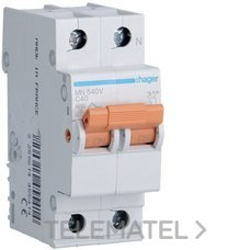 HAGER MN540V Interruptor automático MN 1P+N 40A curva-C