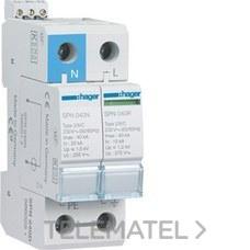 HAGER SPN240D Limitador sobretensión 1P+N 40kA 275V 60Hz