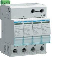 HAGER SPN415D Limitador sobretensión 3P+N 15kA 440V 60Hz
