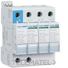 HAGER SPN440D Limitador sobretensión 3P+N 40kA 440V 60Hz