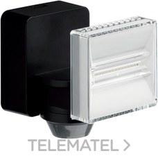 Proyector LED 12W 1200 lumenes con detector de movimiento negro con referencia EE642 de la marca HAGER.