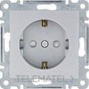 Toma schuko Lumina intense con protección infantil Lumina plata con referencia WL1062 de la marca HAGER.