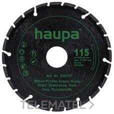 DISCO CORTE DIAMANTE DIAMETRO 115 con referencia 230727 de la marca HAUPA.