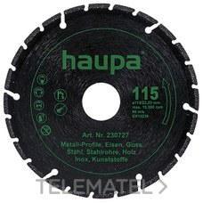 DISCO CORTE DIAMANTE DIAMETRO 125 con referencia 230731 de la marca HAUPA.