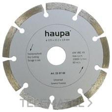 MUELA PARA TRONZAR DIAMANTE 115mm con referencia 230701 de la marca HAUPA.