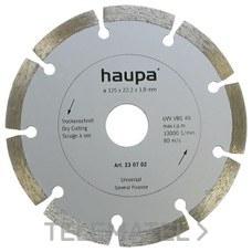 MUELA PARA TRONZAR DIAMANTE 135mm con referencia 230720 de la marca HAUPA.
