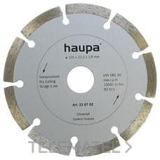 MUELA PARA TRONZAR DIAMANTE 140mm con referencia 230721 de la marca HAUPA.