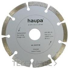 MUELA PARA TRONZAR DIAMANTE 150mm con referencia 230704 de la marca HAUPA.