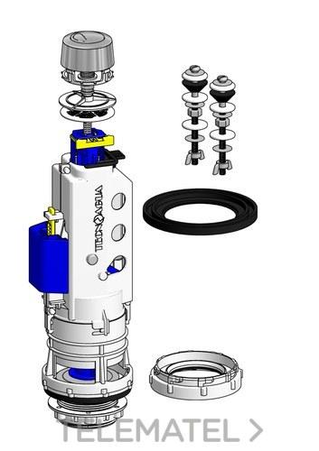 Mecanismo doble descargador por cable T-282N+KIT con referencia 50774 de la marca HIDROTECNOAGUA.