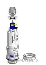Mecanismo simple descarga por pulsador T-281NS con referencia 50773 de la marca HIDROTECNOAGUA.