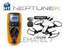 Multímetro NEPTUNE-K multifunción con aislamiento hasta 1000V + Tracker Drone de cuatro aspas con referencia 5448 de la marca HT-INSTRUMENTS.