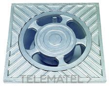 SUMIDERO ALUMINIO 25x25x7cm con referencia 610025 de la marca HYDRAFIX.