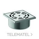 SUMIDERO PVC 10x10 VERTICAL REJILLA INOXIDABLE con referencia 36220V10 de la marca HYDRAFIX.
