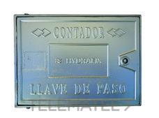TAPA ALUMINIO TOMA CAÑO C 22x35x2,5cm con referencia 612035 de la marca HYDRAFIX.