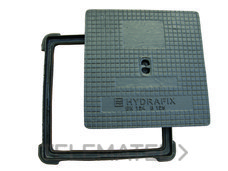 TAPA CUADRADA B125 40x40cm FUNDICION DE HIERRO con referencia 661040 de la marca HYDRAFIX.