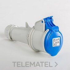 IDE 02201 BASE AEREA 2P+T 16A AZUL IP44