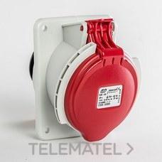 Base empotrar inclinada IP44 3 polos + tierra 380V 32A 6h de color rojo con referencia 03305 de la marca IDE.