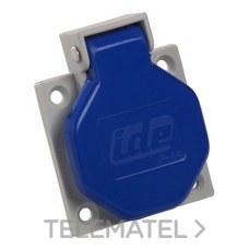 Base empotrar IP44 2 polos + toma tierra lateral 250V 16A de color azul con referencia 00102 de la marca IDE.
