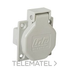 IDE 00101 BASE 2P+TT LATERAL 16A GR.ESTANDAR IP44