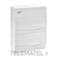 Caja 24 módulos con puerta autoextinguible puerta opaca de color blanco con referencia BV24PO de la marca IDE.