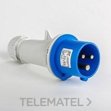 IDE 02101 CLAVIJA AEREA 2P+T 16A AZUL IP44