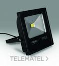 Proyector Led de exterior Chianti 50W IP65 5000K negro con referencia 26-1050 de la marca ILUTREK.