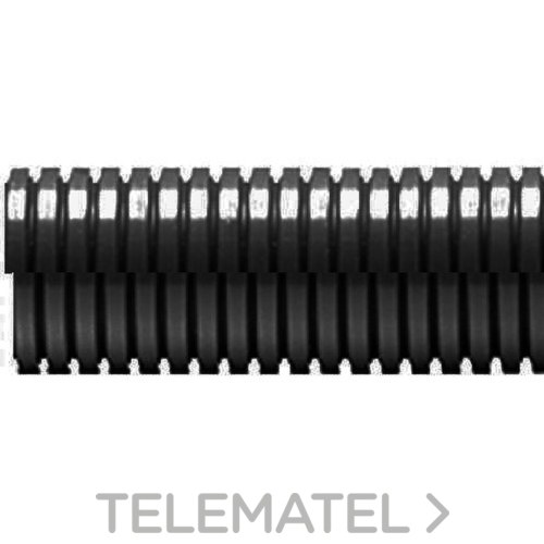 TUBO ANILLADO ABIERTO ECT DN17 POLIAMIDA NEGRO 50m con referencia ECT-17N/C de la marca INTERFLEX.