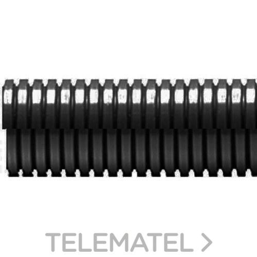 TUBO ANILLADO ABIERTO ECT DN29 POLIAMIDA NEGRO 50m con referencia ECT-29N/C de la marca INTERFLEX.
