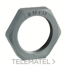 TUERCA DIN46319 M25x1,5mm POLIAMIDA FIBRA DE VIDRIO GRIS con referencia 262531 de la marca INTERFLEX.