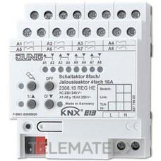 JUNG 2308.16REGHE Actuador empotrable KNX 8 salidas 4 persianas seleccionable