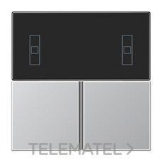 JUNG AL4093TSA Juego teclas KNX Serie LS para 4093KRMTSD aluminio