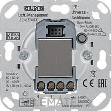 JUNG 1224LEDUDE Mecanismo dimmer sensor AC 230V 50/60Hz para LED