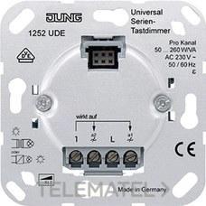 JUNG 1252UDE Mecanismo dimmer universal 2 canales tecla sensora doble