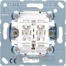 MECANISMO PULSADOR UNIPOLAR PARA PERSIANA 10AX/250V con referencia 539VU de la marca JUNG.