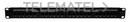 """Panel de parcheo 19"""" Cat6 UTP 24 puertos 1U Dual 180º bastidor trasero etiqueta con referencia TP-61F de la marca KEYNET SYSTEMS."""