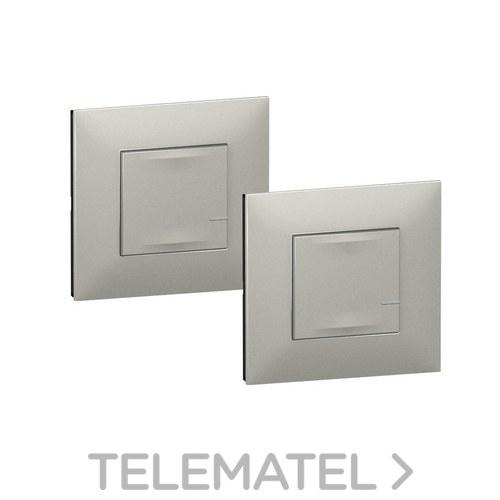 Interruptor+conmutador VALENA NEXT W/NETATMO WL luminoso aluminio con referencia 741852 de la marca LEGRAND.
