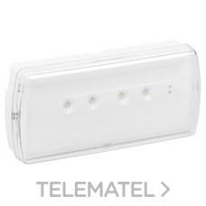 LEGRAND 661607 Luminaria de emergencia URA21LED 350lm 1 hora IP42 permanente / no permanente