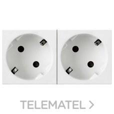 TOMA 2x2 POLOS+TIERRA LATERAL BLANCO MOSAIC-II con referencia 077252 de la marca LEGRAND.