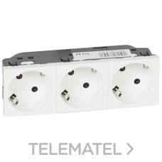 TOMA 3x2 POLOS+TIERRA LATERAL BLANCO MOSAIC-II con referencia 077253 de la marca LEGRAND.