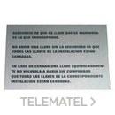 LETRERO CONTADOR GAS con referencia 54355 de la marca LLOBERA.