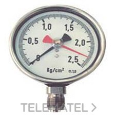 MANOMETRO INOXIDABLE CLASE 1 DIAMETRO 100 CONEXION PETERSON con referencia 56094 de la marca LLOBERA.