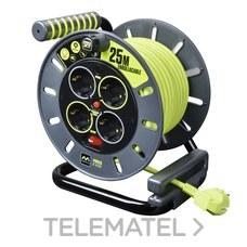 Enrollacable abierto M ProXT 4 tomas Schuko 25m con referencia OME25164SL-PX de la marca LUCECO.