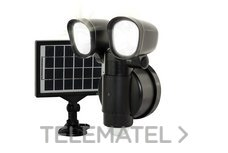LUCECO LEXT4B50S-01 LUCECO TWIN SECURITY LIGHT WITH SOLAR PANEL 400LM 4W 5000K BATTERY POWERED